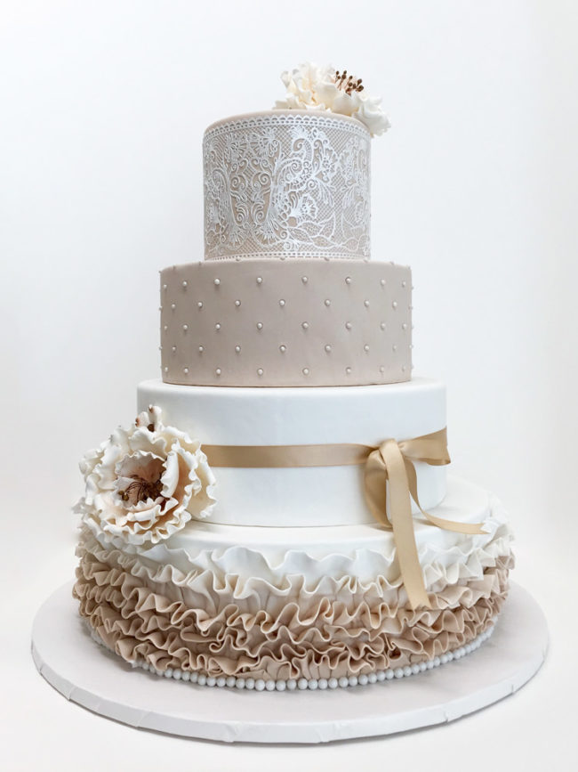 Elegant White Wedding Cakes Pinterest