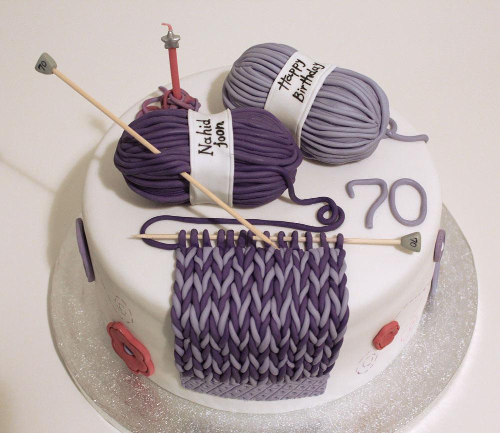 70th birthday cake knitting Yummy Yonie Cakes