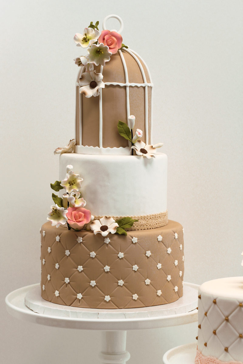 3 tier custom wedding cake vancouver