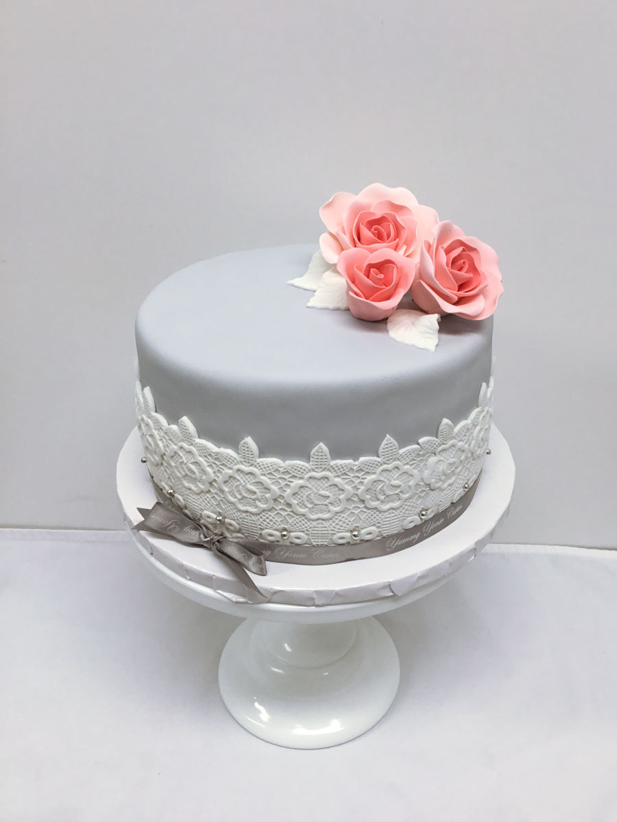 Bridal Shower Cake - Simple